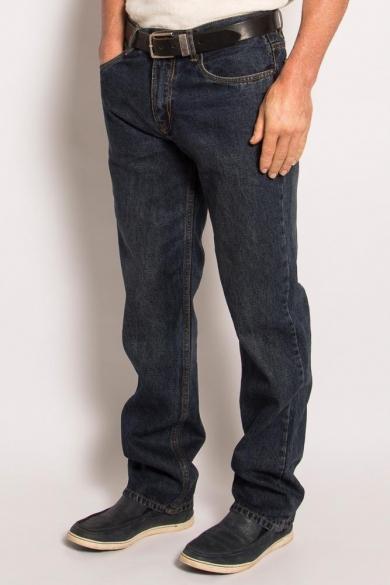 Men's Hemp Straight Leg Jeans-Dark Denim