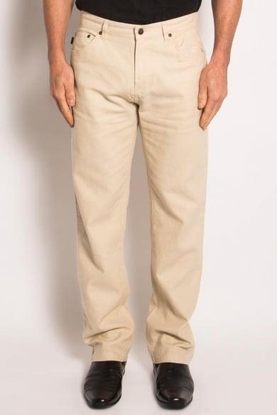 Hemp Light Canvas Jeans-Natural
