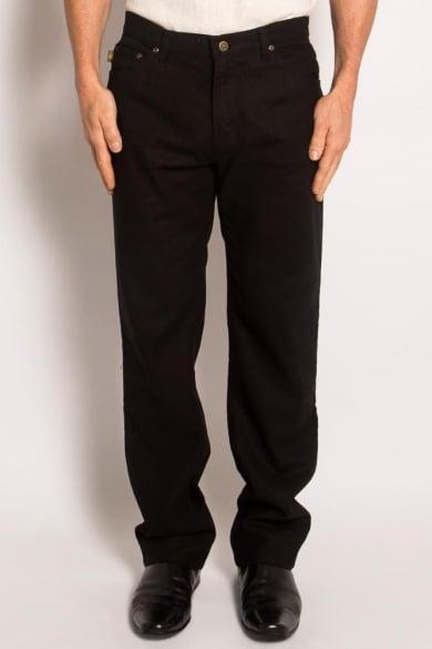 Hemp Light Canvas Jeans-Black