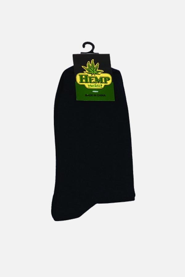 Men's Hemp Cotton Regular Socks-Black