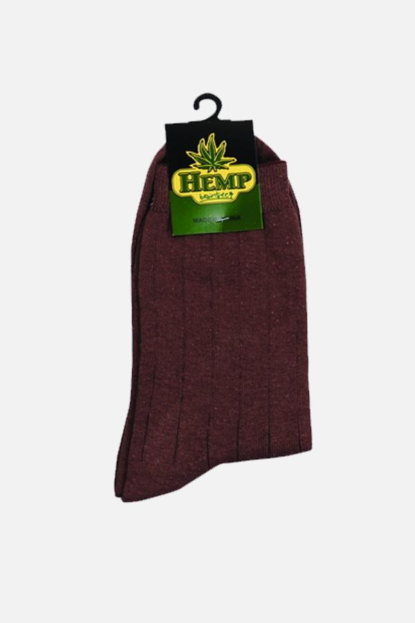 Men's Hemp Cotton Regular Socks-Khaki
