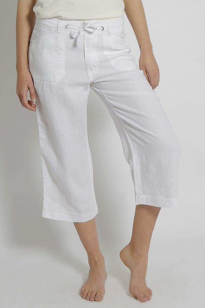 Ladies Pure Hemp 3/4 Beach Pants