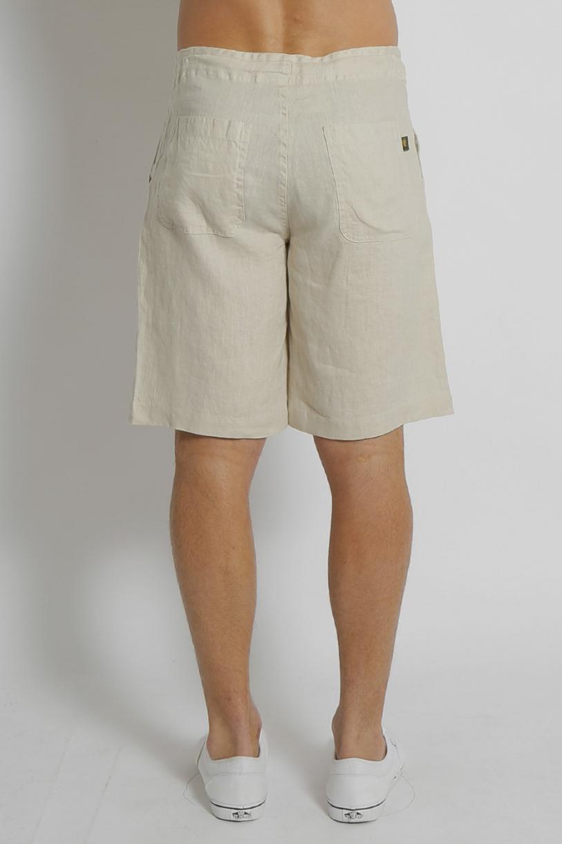 Men's 100% Hemp Drawstring  Shorts - Bone