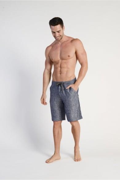 Men's 100% Hemp Drawstring  Shorts - Navy