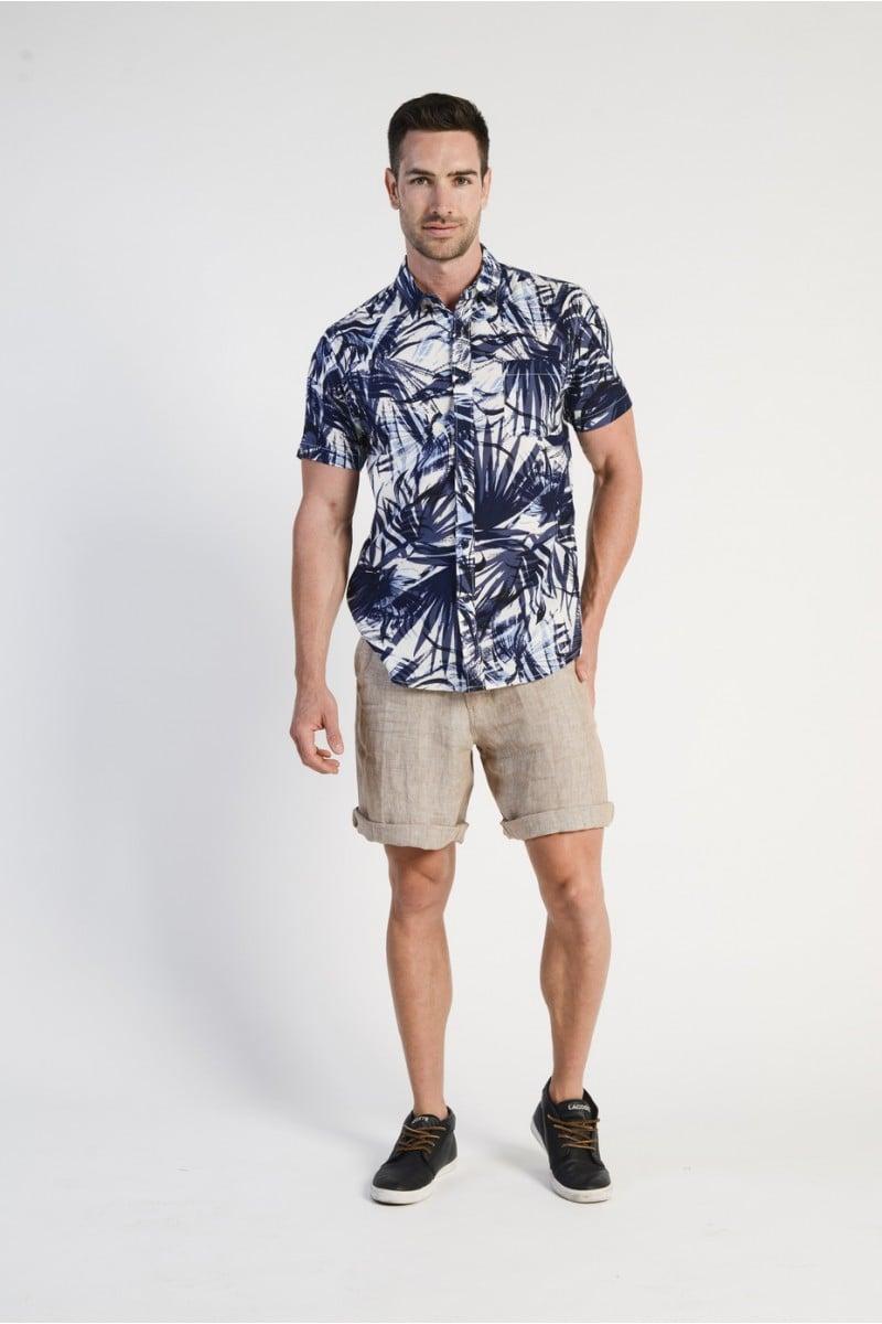 Men's 100% Hemp Drawstring  Shorts - Sand