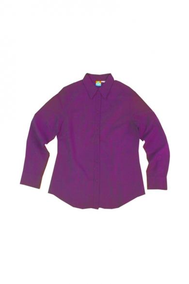 Ladies Hemp Cotton Shirt-Purple