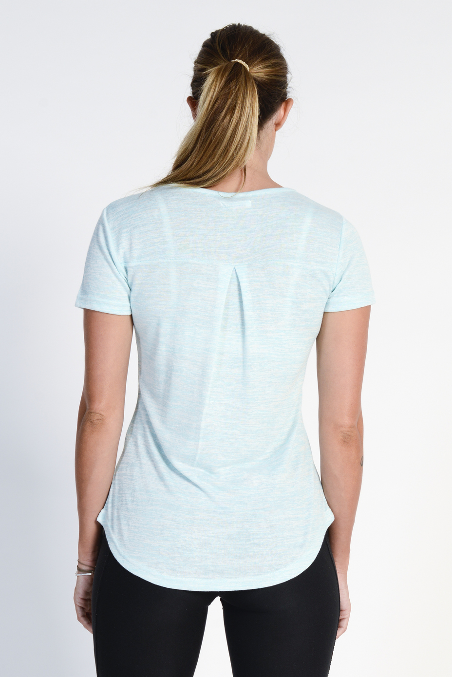 Ladies' Bamboo Cotton Blend Tee- LT Blue