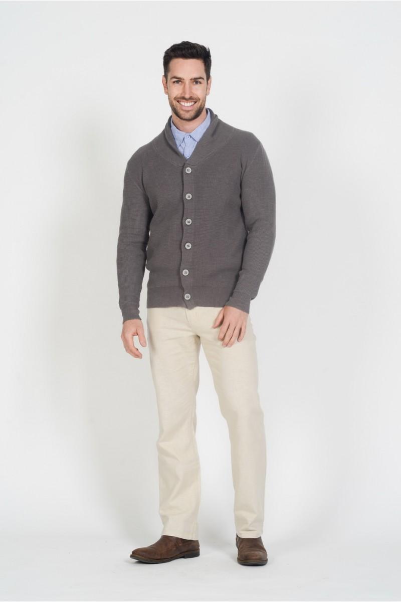 Men's Hemp Cotton Cardi-Grey