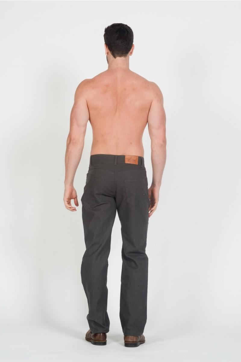 Hemp Light Canvas Jeans-Khaki