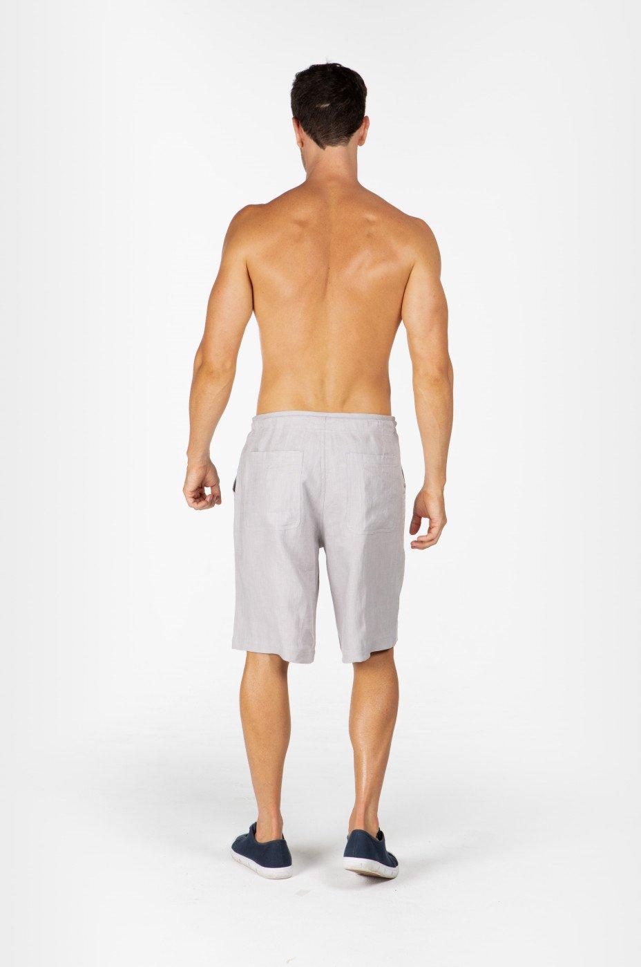 Men's 100% Hemp Drawstring  Shorts-Grey