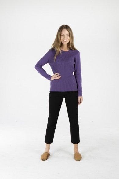Ladies' Hemp Cotton Knit Jumper-Purple