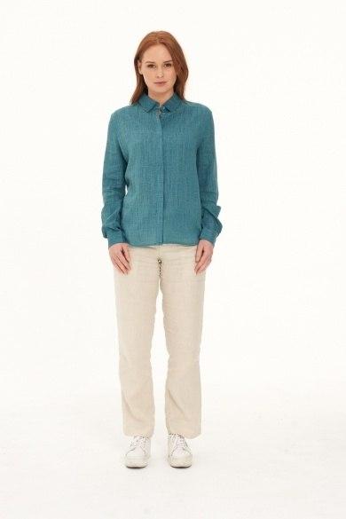 Ladies' Pure Hemp Shirt-Green
