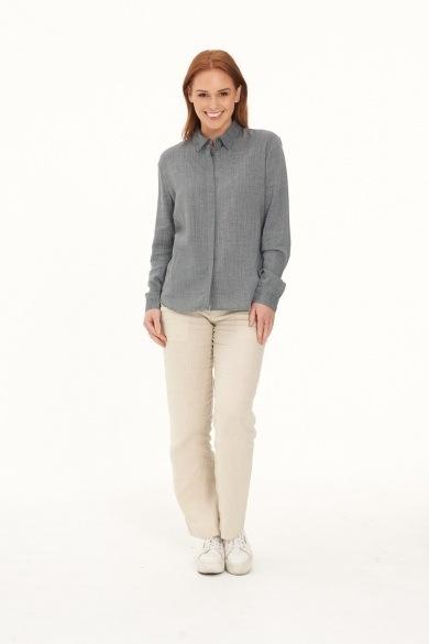 Ladies' Pure Hemp Shirt -Grey