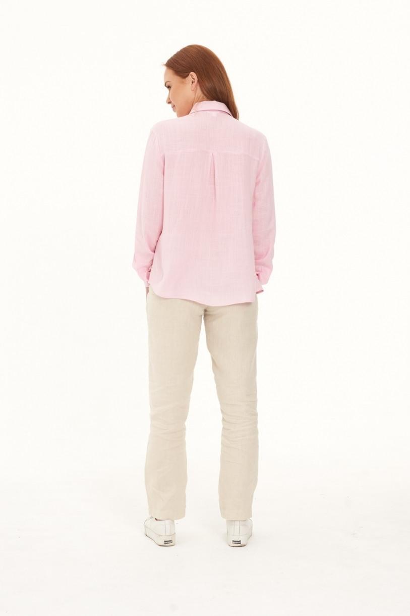 Ladies' Pure Hemp Shirt -Pink