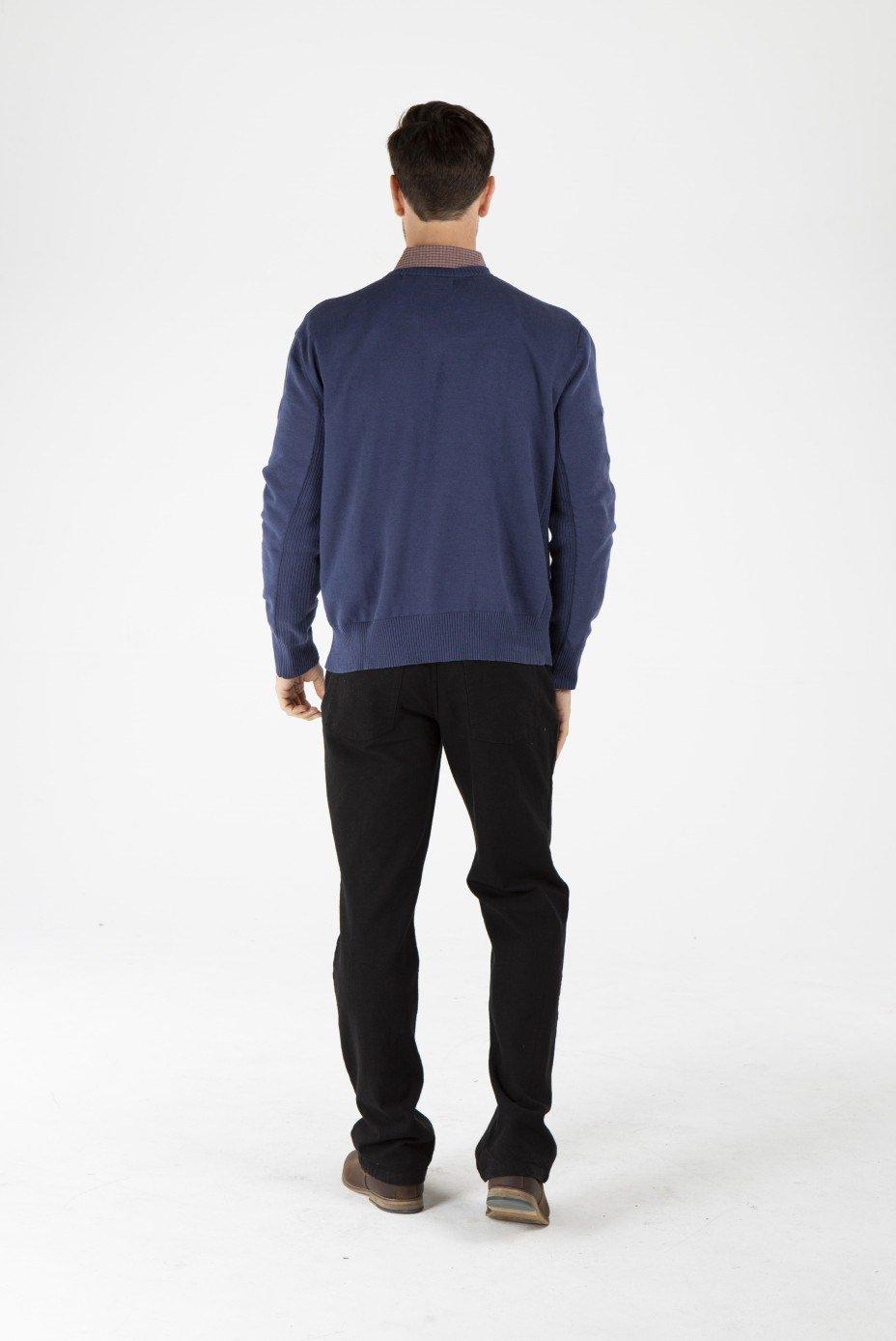 Men's Hemp Cotton Jumper-Navy