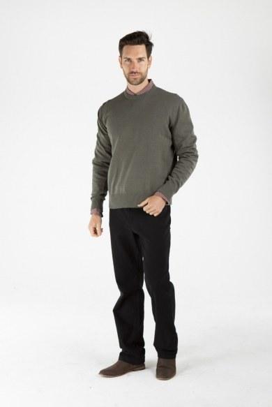 Men's Hemp Cotton Jumper-Olive