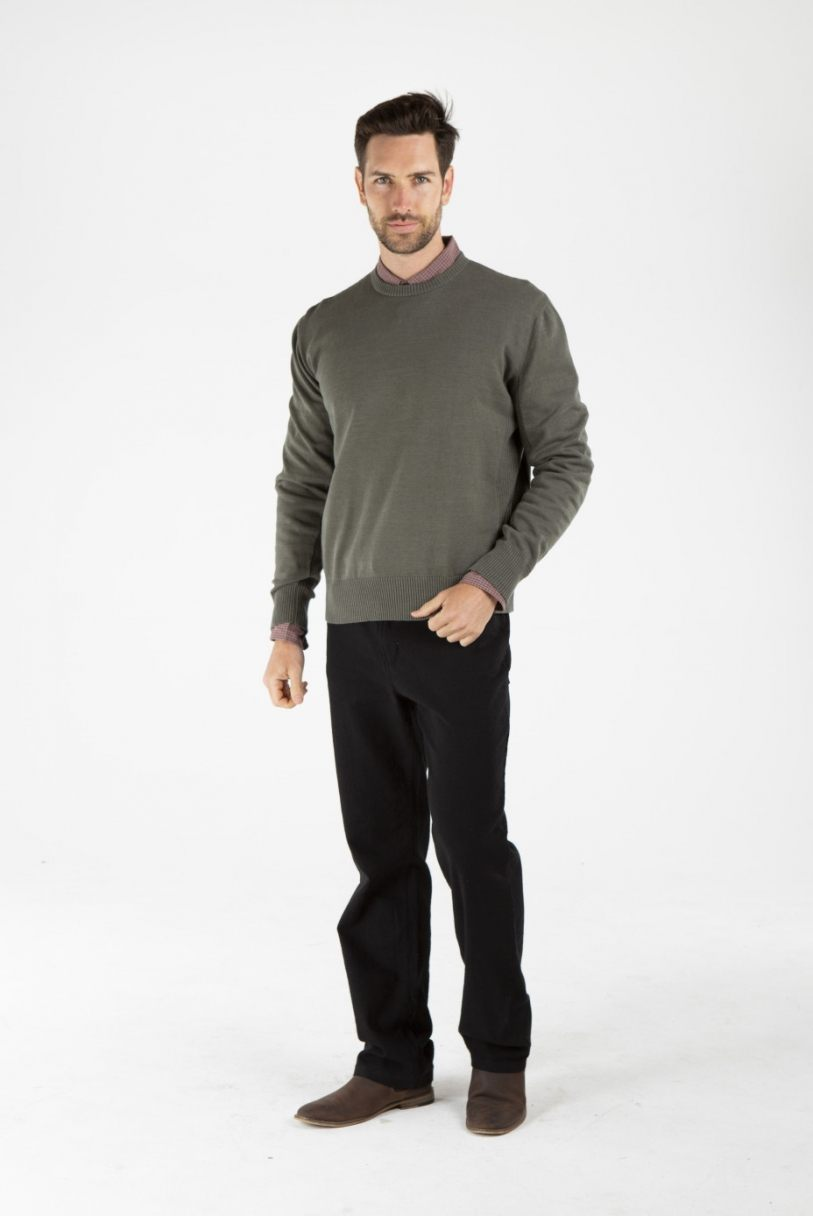 Men's Hemp Cotton Jumper-Olive