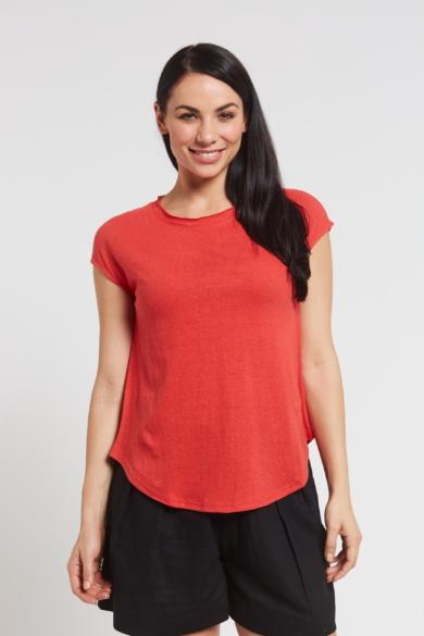 Ladies' Hemp Cotton Tee-Red