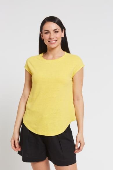 Ladies' Hemp Cotton Tee-Yellow
