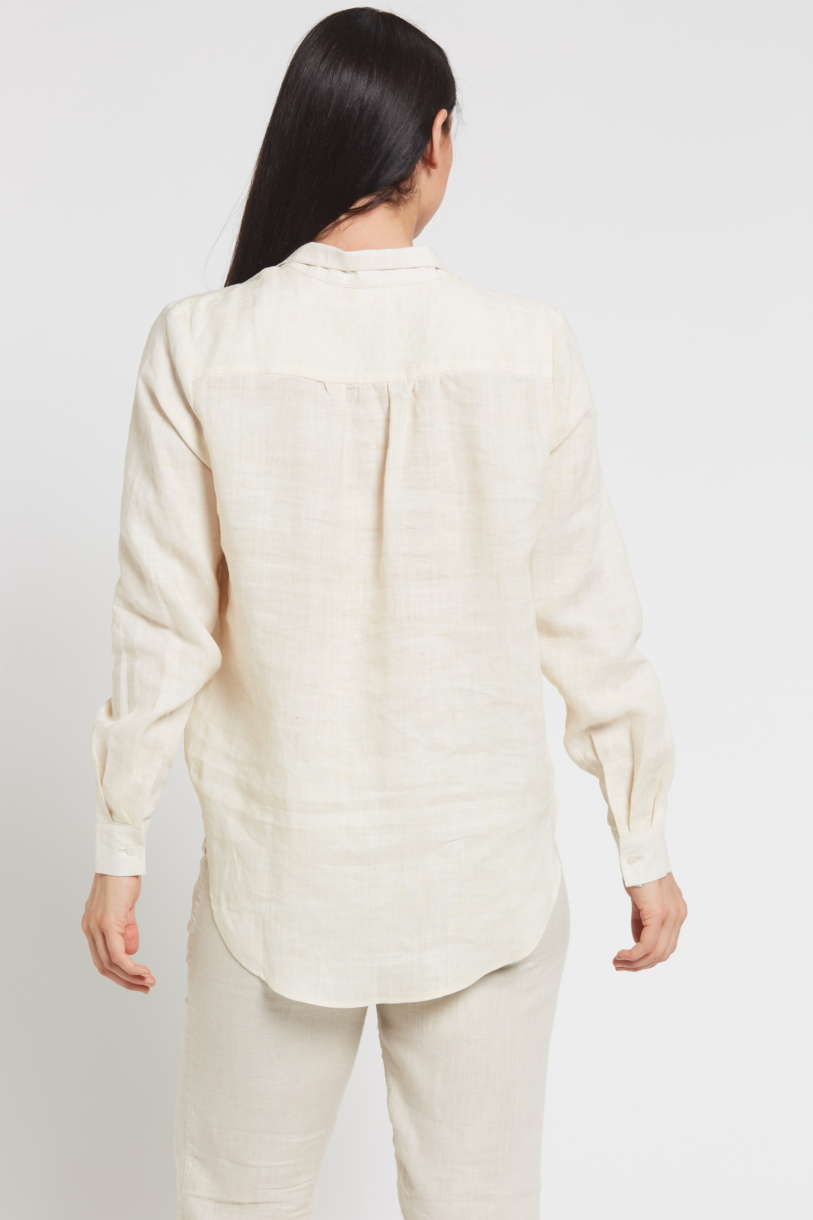 Ladies' 100%Hemp Blouse-Natural