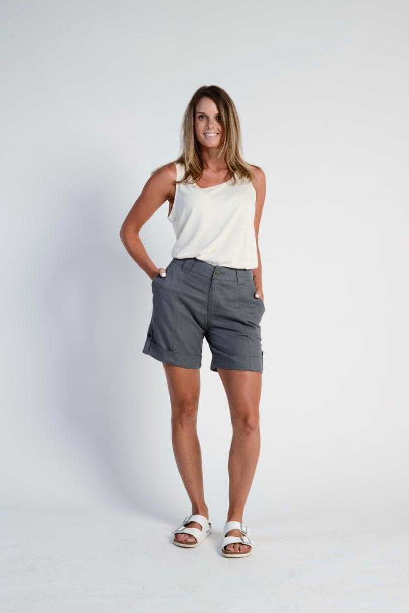 LSB683 Ladies' Hemp Cotton Shorts-Grey